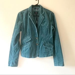 American Eagle Outfitters Teal Corduroy Jacket Med
